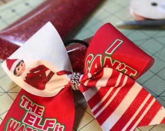 Elf on the shelf cheer bow