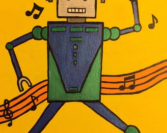 Robot partying!