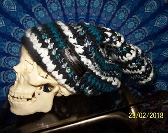 handmade crochet wool slouch hat