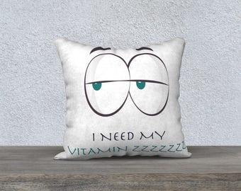 "Decorative pillow cover ""ZZZ"" pillow kids decor room child, cushion"