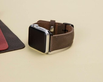 Apple Watch Band, Leather Apple Watch Band, Apple Watch Leather Band, i Watch Band, Leather i Watch Band antic brown leather, man or women