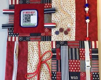 Stroke patient etsy patriotic fidget blanket alzheimersstroke patient fine motor skills negle Choice Image