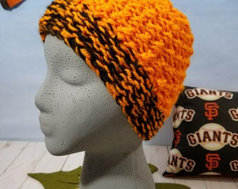 San Francisco Giants Hand Knit Hat, Beanie, Slouchy SF-011