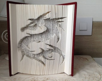 folded book dragon