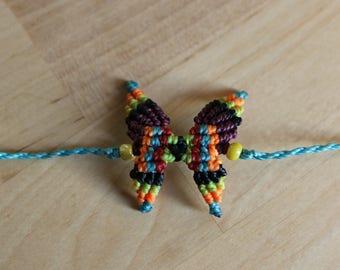 Butterfly macrame bracelet