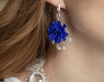 Earrings Cornflower