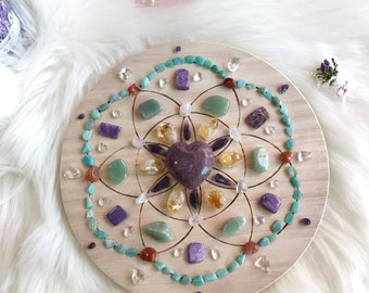 20cm Marriage Longevity Complete Set of Crystal Grid