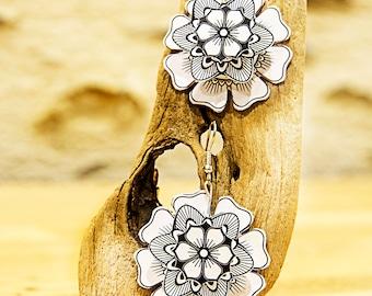"Flower - Collection ""My paper Garden"" earrings ""my garden paper"" earing"
