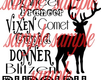 All the reindeer names