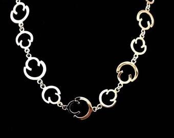 Half Circles Silver Necklace