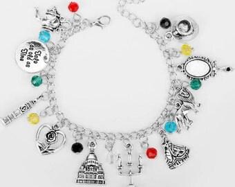 Beauty And Beast Charm Bracelet/Epic Fandoms Jewelry