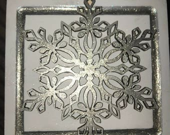 Hand crafted snowflake Trinket Box