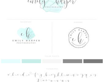 Mint Logo and Watermark, Mint Photography logo, Mint Branding 013