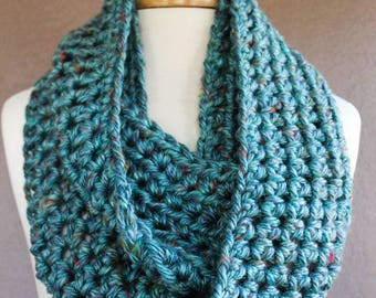 crochet scarf , infinity scarf
