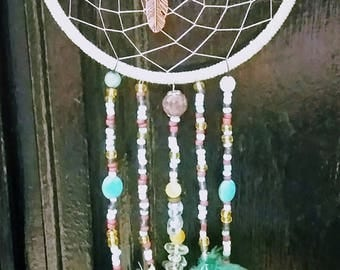 Beige Beaded DreamCatcher