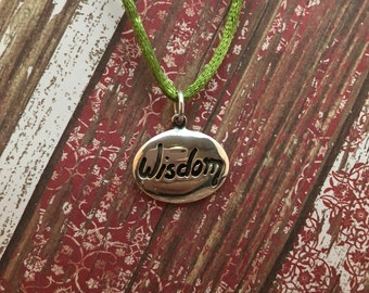 "Sterling Silver 925 ""Wisdom"" Serenity Prayer Pendant for Recovery"