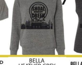 Bella Heather grey tri-blend wide neck sweatshirt