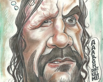 Sandor Clegane aka The Hound showing his ability to empathise A3 print 600 pixels per inch resolution. Signed by the artist.