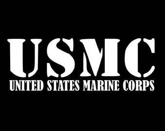 USMC Marines Military decal sticker Laptop Window Car Truck State