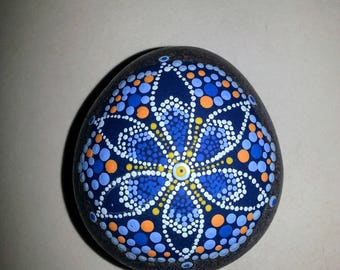 Shades of Blue with Orange accents Mandala