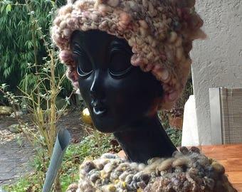 warm, cosy, artyarn hat for a  princess