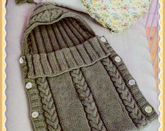 Baby Sleeping Bag knitting pattern pdf