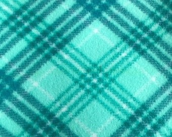 Mint Plaid Snood for Great Dane/Giant Breed Dog