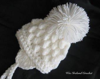Crochet Pattern for Pom Pom Hat