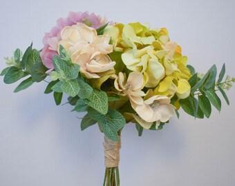 Wedding Bouquet, Bridal Bouquet, Hydrangea Bouquet, Centerpiece
