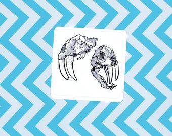 SaberTooth Skull Sticker