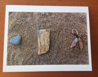 Rock, Paper, Scissors notecard - Vineyard Haven, MA