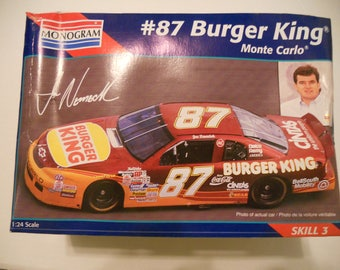 Monogram 1995 NASCAR #87 Burger King 1/24 Scale  Model Kit