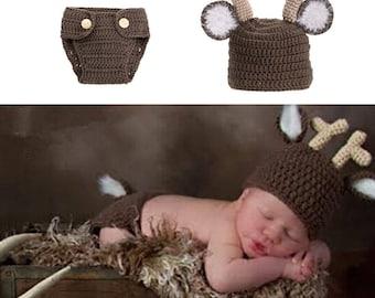 Crochet Deer Newborn Prop