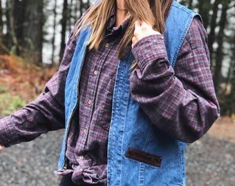 Vintage Cherokee Denim Vest / Jean Vest