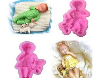 Child mold with girl or boy blanket. Click the small shop