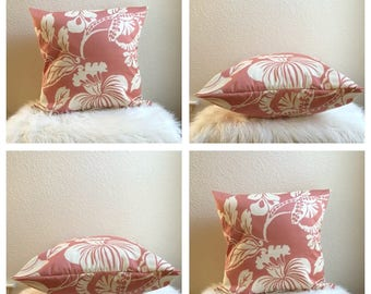 Pink Hawaiian Pillow Cover