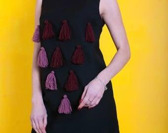Dress with tassels