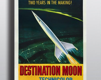 Destination Moon - Sci Fi Movie Vintage Poster Print