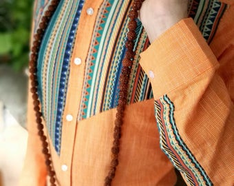 Redesigned man shirt non-symmetric style