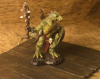 Painted Lizardman Warrior 28mm Mini