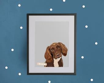 Personalised Pet Portrait Print