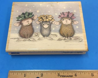 Wrapped & Ready ©House-Mouse Rubber Stamp