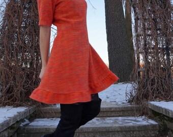 Orange short sleeve dress