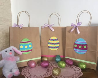 Easter favor bags easter party bags easter party supplies easter gift bags easter favor bags easter eggs happy easter easter goodie negle Image collections