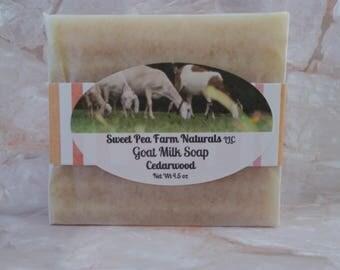 Essential Oil Goat Milk Soap-Cedarwood-All natural with cedarwood essential oil