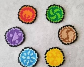 Legend of Zelda Medallions Perler Set, Singles, Magnets, Pins