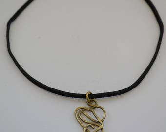 Brass Chaos Scribble Short Necklace