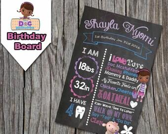 Doc Mcstuffins Birthday Board