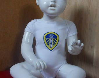 Leeds United Embroidered Babygrow Bodysuit Vest available in all sizes from 0-18 months