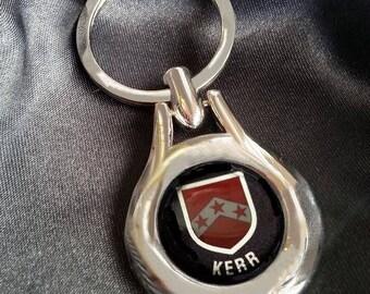 KERR Chrome Key Ring Fob Keyring Scottish Irish Clan Gift Idea